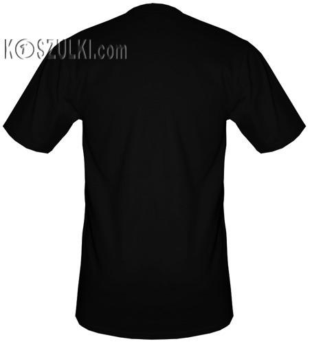t-shirt XXXXL dowolny tekst CZARNY