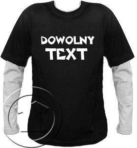 Bluza męska przedłużony rękaw dowolny tekst