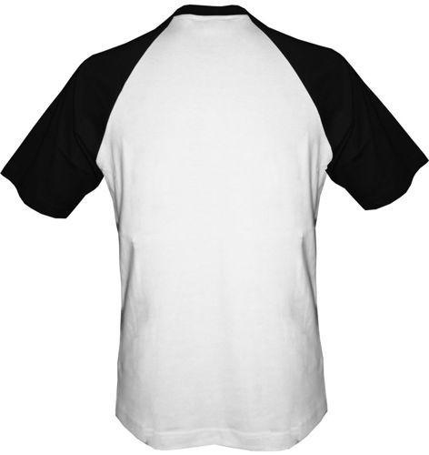 t-shirt Baseball dowolny tekst- biało-czarny
