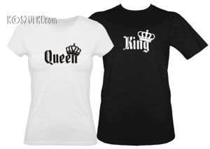 Koszulki dla pary-Zestaw koszulka damska + t-shirt king & queen