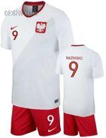5bfc61d12f Strój kibica Reprezentacji Polski Nike Poland MŚ2018 Koszulka i spodenki  własny numer i nazwisko