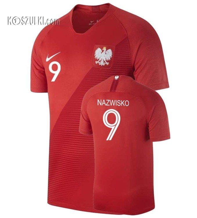 f6977af7b Kliknij, aby powiększyć; Oryginalna Koszulka Reprezentacji Polski NIKE MŚ  2018 Away Stadium Czerwona Nazwisko