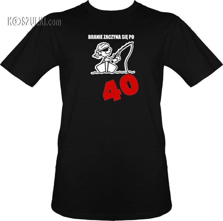 9cf64bc110d2d6 t-shirt Branie Zaczyna się Po 40 Czarny | Męskie \ Na prezent \ 40te ...