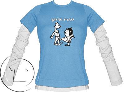 Bluza damska przedłużony rękaw Girls rule