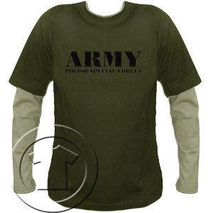 Bluza męska przedłużony rękaw- ARMY