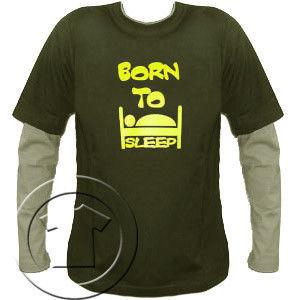 Bluza męska przedłużony rękaw Born to sleep