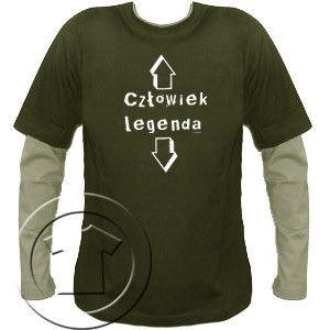 Bluza męska przedłużony rękaw Człowiek legenda