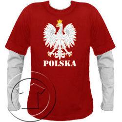 Bluza męska przedłużony rękaw Orzeł Polska