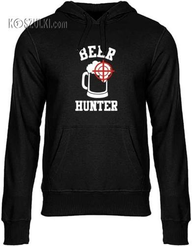 Bluza z kapturem Beer hunter