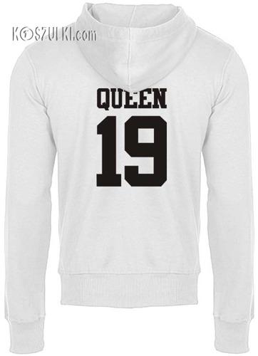 Bluza z kapturem Queen+ Twój numer