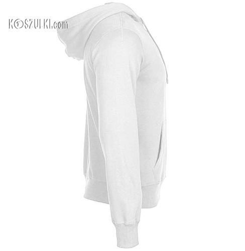 Bluza z kapturem bez nadruku - Biała
