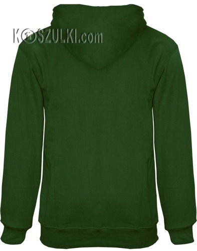 Bluza z kapturem bez nadruku- Ciemna zielona