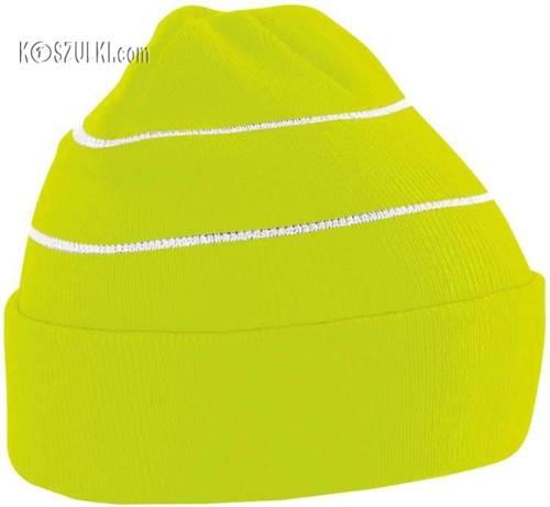 Dzianinowa czapka z odblaskiem