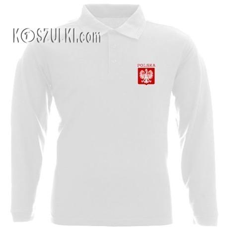 Koszulka Polo długi rękaw- Dziecko- małe godło