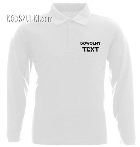 Koszulka Polo z własnym nadrukiem z długim rekawem dla dziecka