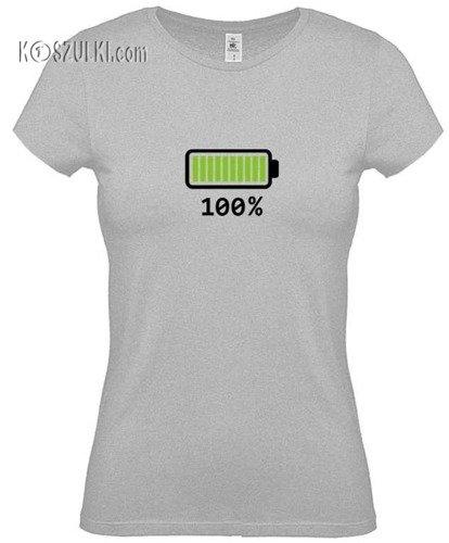 Koszulka damska  Bateria 100%