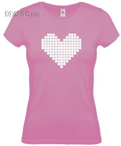 Koszulka damska Serce Pixel