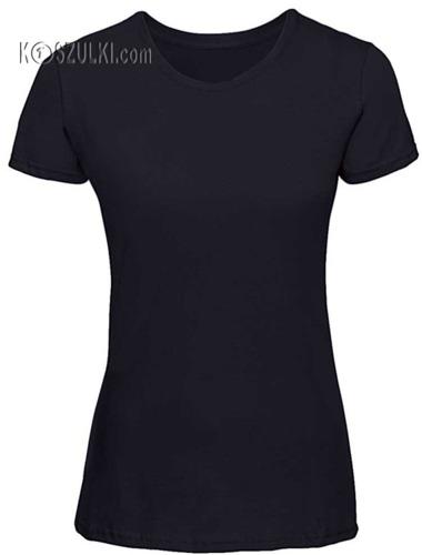 Koszulka damska Slim Granatowa