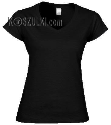 Koszulka damska V-neck bez nadruku