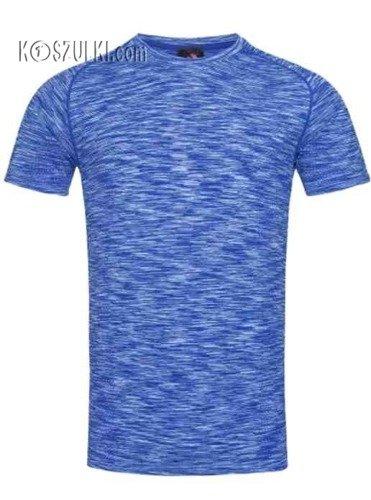 Koszulka treningowa męska szybkoschnąca- Niebieski melanż