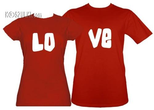 Koszulki dla pary-Zestaw  koszulek LOVE