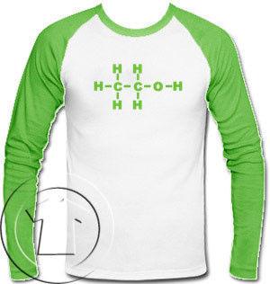 Longsleeve Męski - Alkohol-Molekuły
