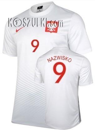Oryginalna Koszulka Reprezentacji Polski Nike Euro 2016 Home Biała Supporters Tee Nazwisko