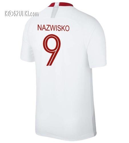 Oryginalna Koszulka Reprezentacji Polski Nike Mś 2018 Home Breathe Stadium Biała Nazwisko i numer
