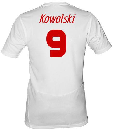 Oryginalna koszulka Puma Polska Biała Polska + własne nazwisko