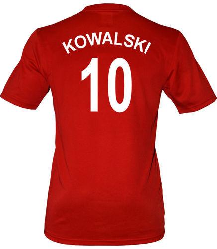 Oryginalna koszulka Polska Nike Euro2012 Czerwona Nazwisko+numer