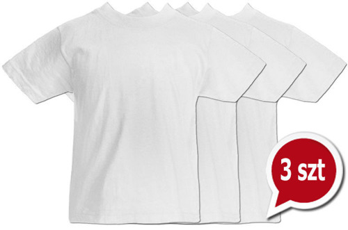 Pakiet 3 sztuk T-Shirt -dziecko- BIAŁE