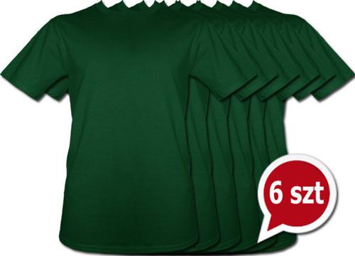 Pakiet 6 sztuk T-Shirt - ZIELONY