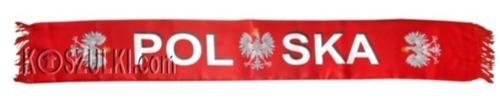 Szalik Satynowy POLSKA- Czerwony orzeł