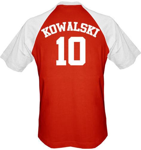 T-shirt  Baseball Polska + własne nazwisko Czerwono-Biały