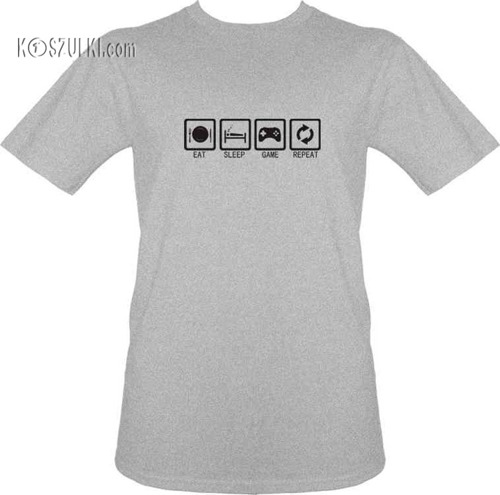 T-shirt Eat, sleep game, repeat