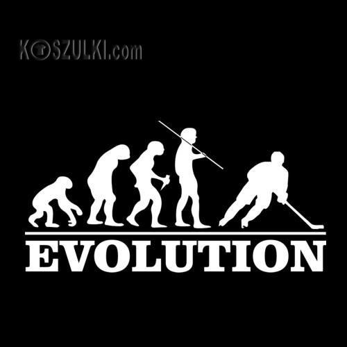T-shirt Ewolucja Hokeista