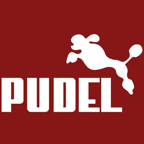 T-shirt Fit Pudel Czerwony