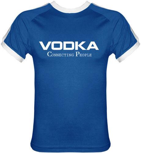 T-shirt Fit Vodka Niebieski
