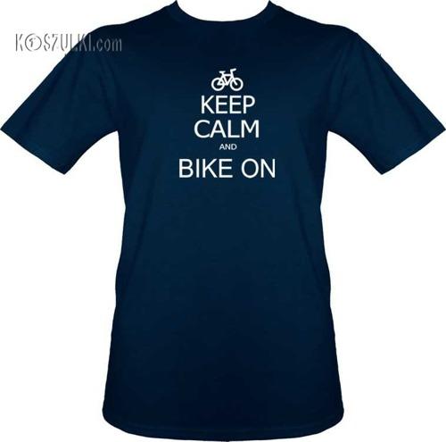 T-shirt Keep Calm and bike on