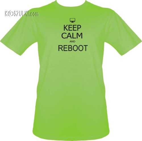 T-shirt Keep calm and reboot