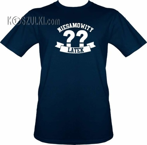 T-shirt Niesamowity ?? latek- Granat