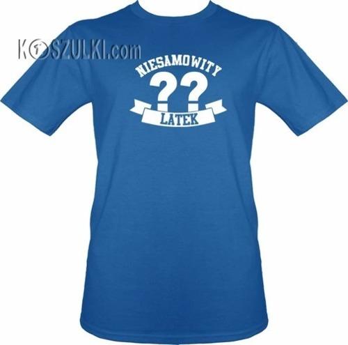 T-shirt Niesamowity ?? latek- Niebieski