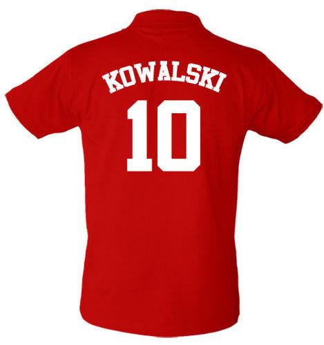 T-shirt Polo Polska + Nazwisko i numer
