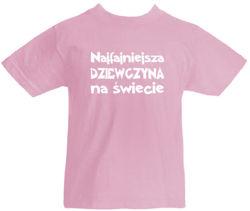 T-shirt dziecięcy Najfajniejsza Dziewczyna