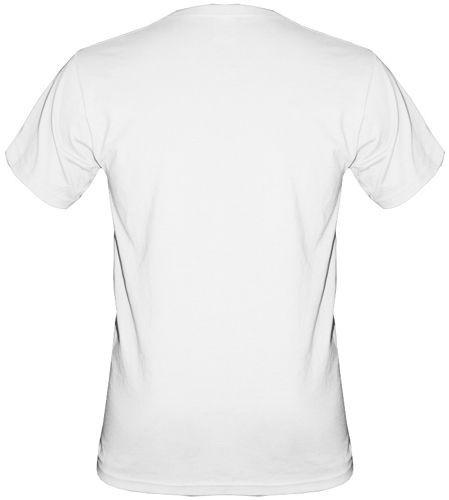 T-shirt v-Neck TV121 Poland biały