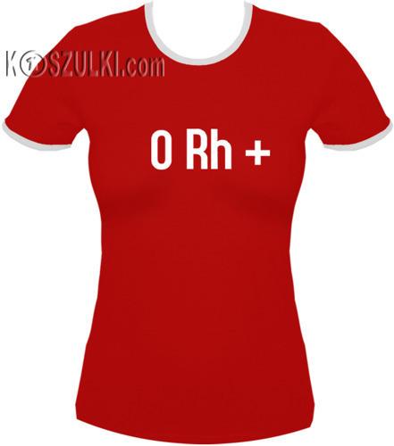 koszulka damska 0rh PLUS- CZERWONA
