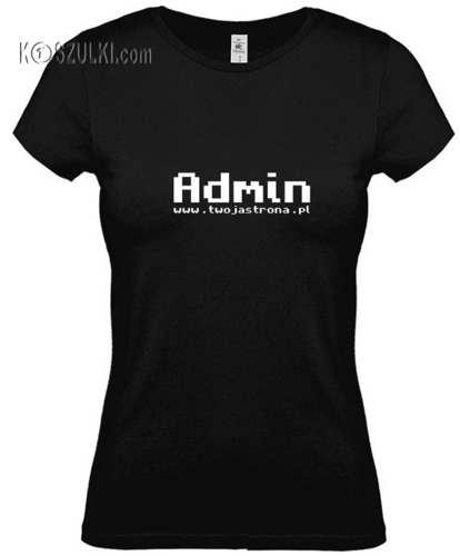 koszulka damska Admin + www.twojastrona