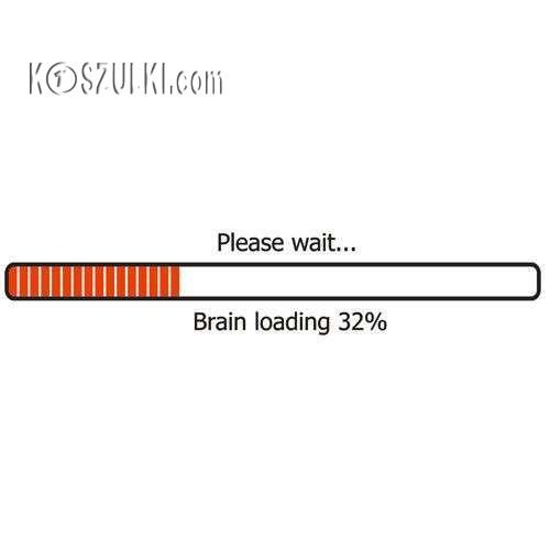 koszulka damska Brain is Loading- BIAŁA