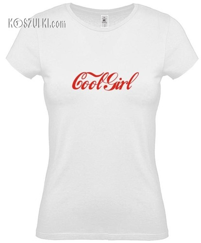 koszulka damska Coolgirl- BIAŁA
