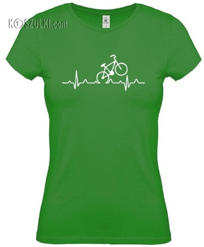 koszulka damska EKG rower